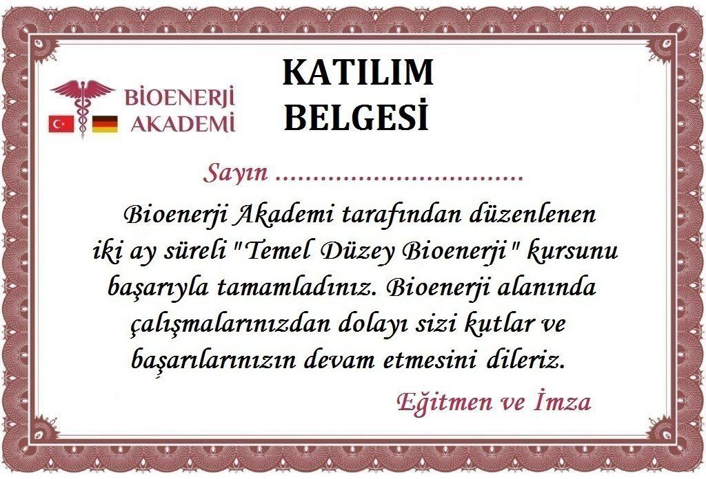 Bioenerji Akademi Bioenerji Sertifikası
